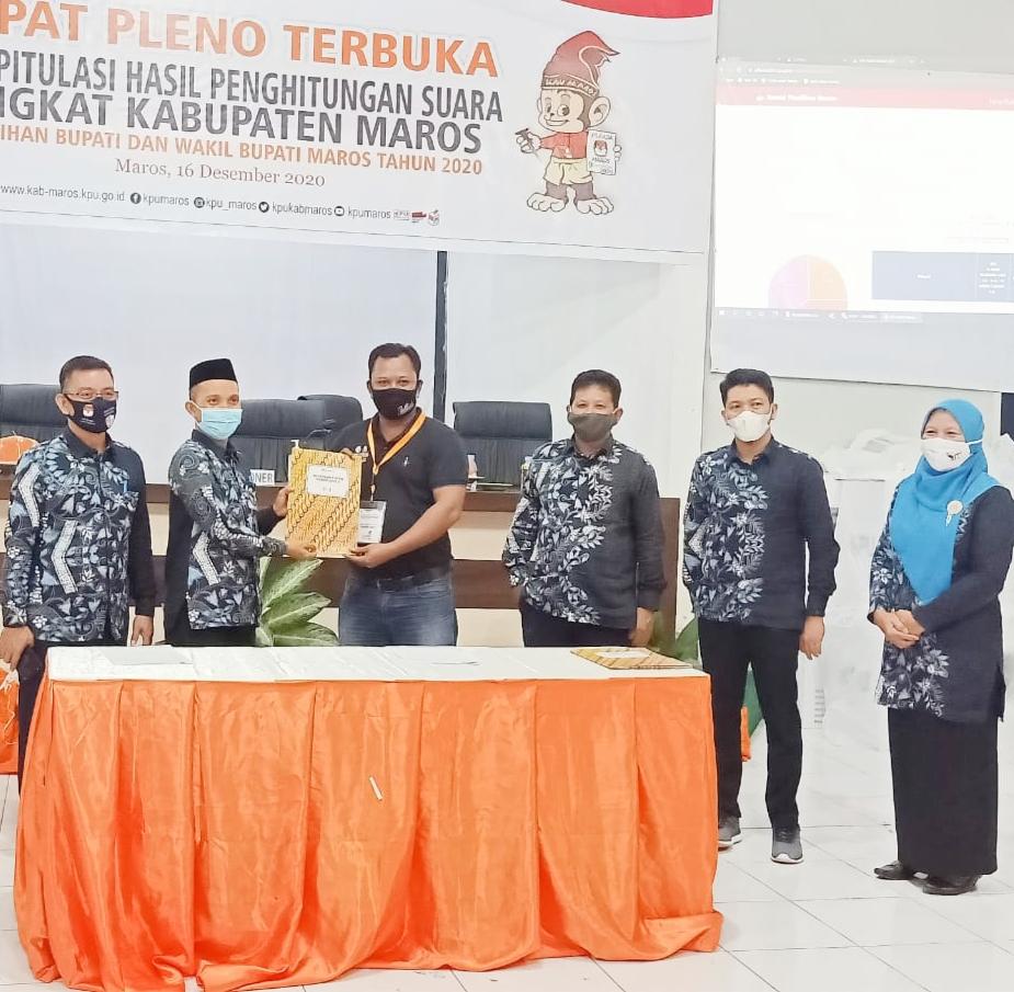 Pasangan Chaidir Syam- Suhartina Bohari Menang Telak di Pilkada Bupati dan Wakil Bupati Maros 2020