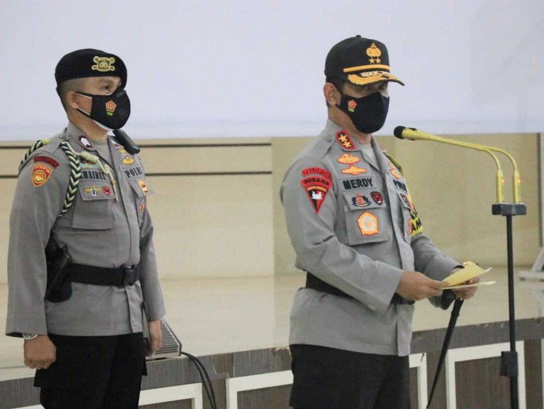 200 Personil BKO Brimob Nusantara Polda NTB telah Melaksanakan Pengamanan Pilkada di Polda Sulsel