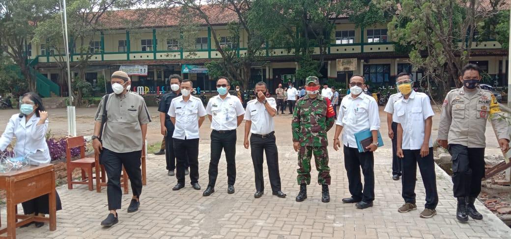 Sosialisasi Proses Belajar Tatap Muka Dimasa Pandemi Covid 19 Kabupaten Bekasi Dihadiri Danramil 06/Setu