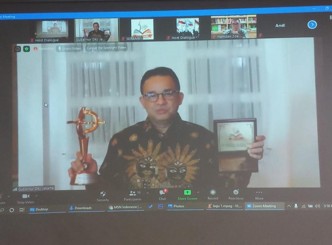 Anies Baswedan Dapat Penghargaan dari Serambi, Braja dan Satgas Covid-19 Bamus Betawi