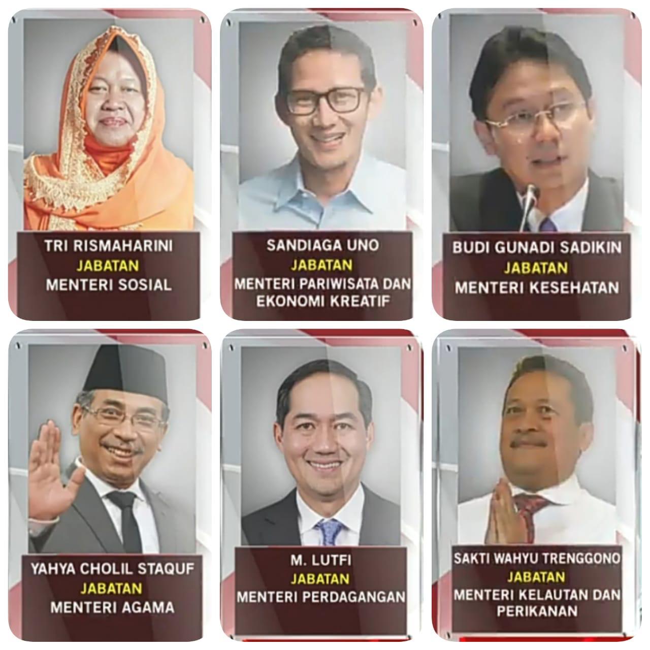 Para Menteri Baru Hasil Reshuflle Diperkenalkan Presiden