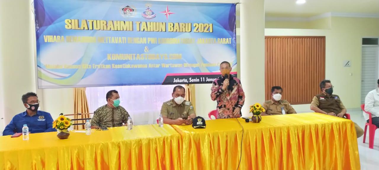 Walikota DKI Jakbar Silaturahmi Tahun Baru 2021 di Vihara Hemadhiro Mettavati Bersama Koordinatoriat PWI Jakarta Barat dan Komunitastodays