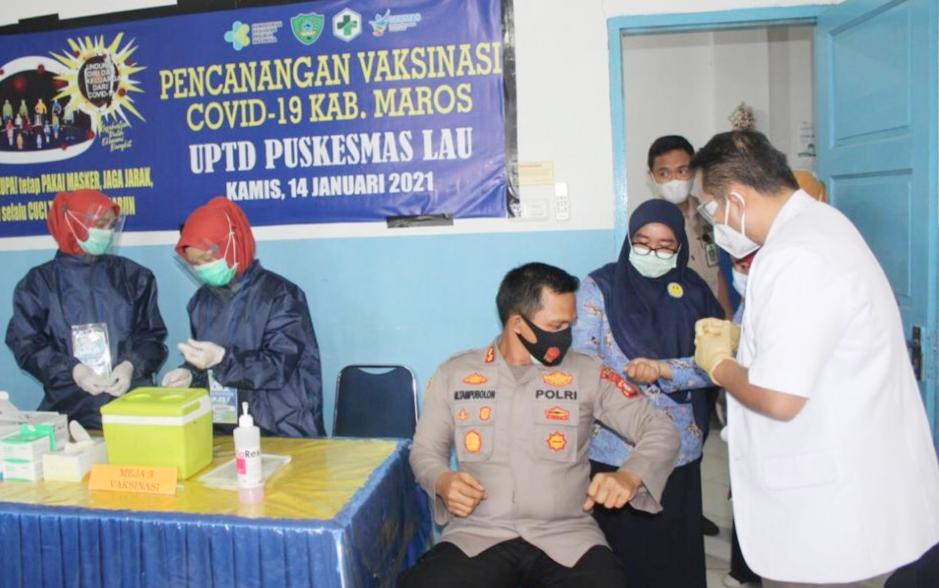 Kapolres Maros: Masyarakat Tidak Perlu Takut di Vaksin Covid 19