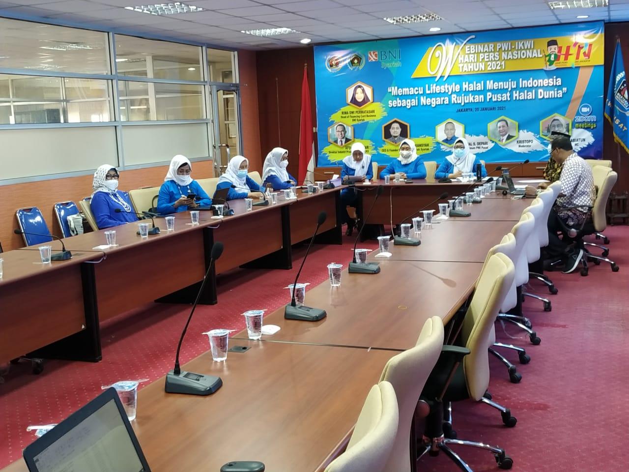 PWI-IKWI Gelar Webinar Menuju Indonesia Sebagai Negara Rujukan Pusat Halal Dunia