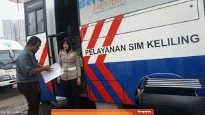 Layanan SIM Keliling Wilayah DKI Jakarta, Hari Ini, Sabtu 23 Januari 2021