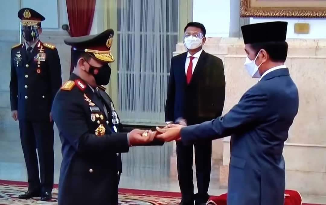 Jenderal Listyo Sigit Prabowo Resmi Dilantik Presiden Jokowi Sebagai Kapolri