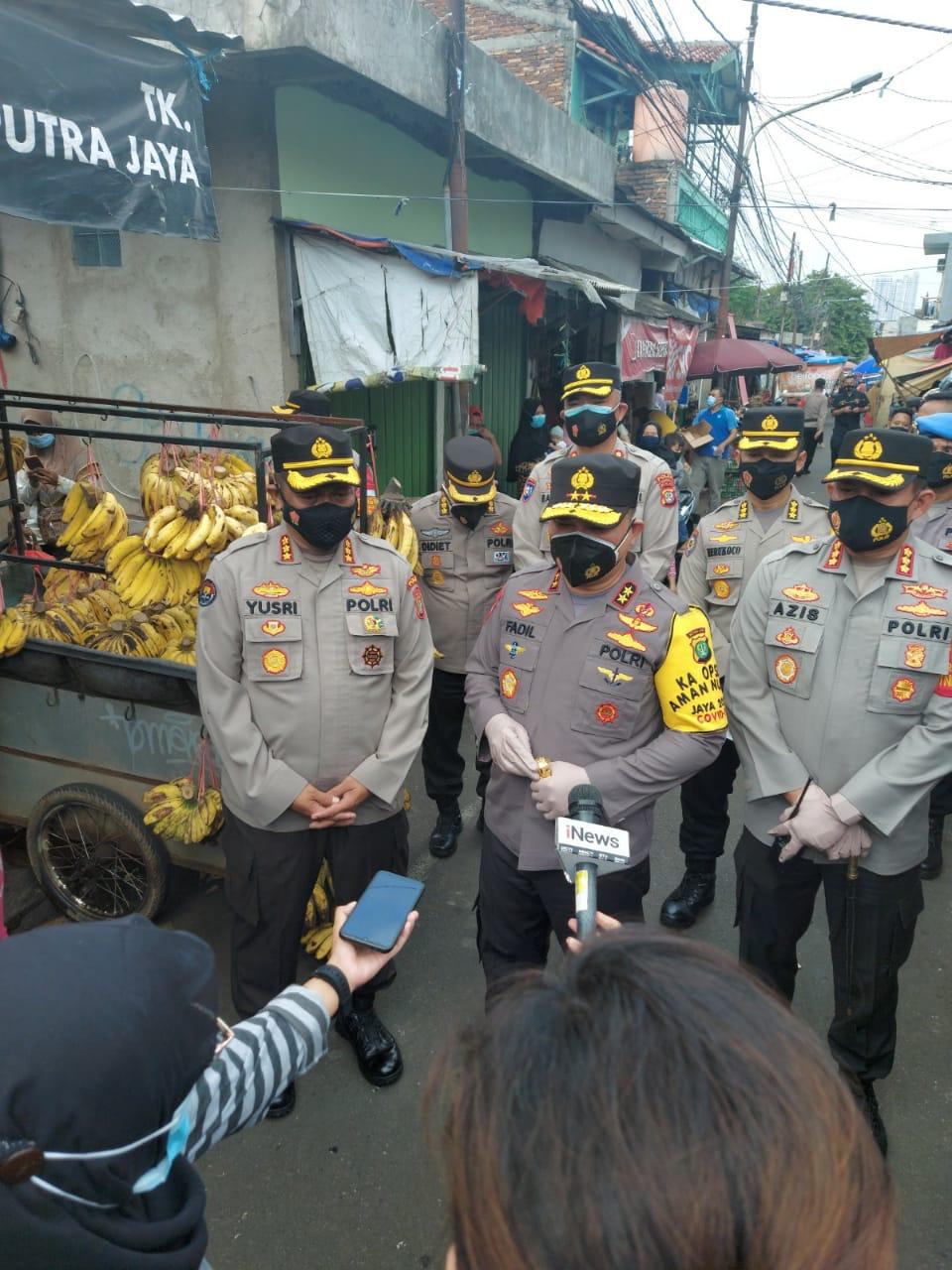 Sidak Kapolda Metro Jaya di Zona Merah Covid 19, Pancoran Jaksel