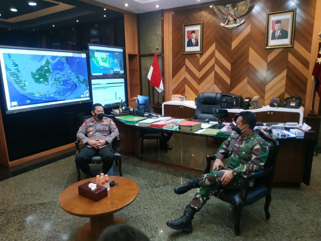 Kunjungi KSAD, Kapolri Listyo Sigit: Sinergitas TNI-Polri Jaga Stabilitas Kamtibmas