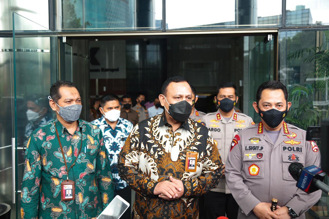 Kapolri Bersama KPK Bicarakan Penguatan SDM dan Joint Investigasi
