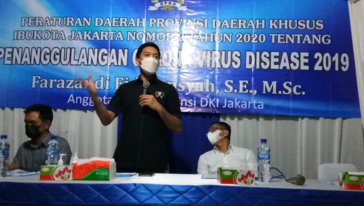 Anggota DPRD DKI Jakarta F-PAN Farazandi Sosialisasi Perda No. 2/2020