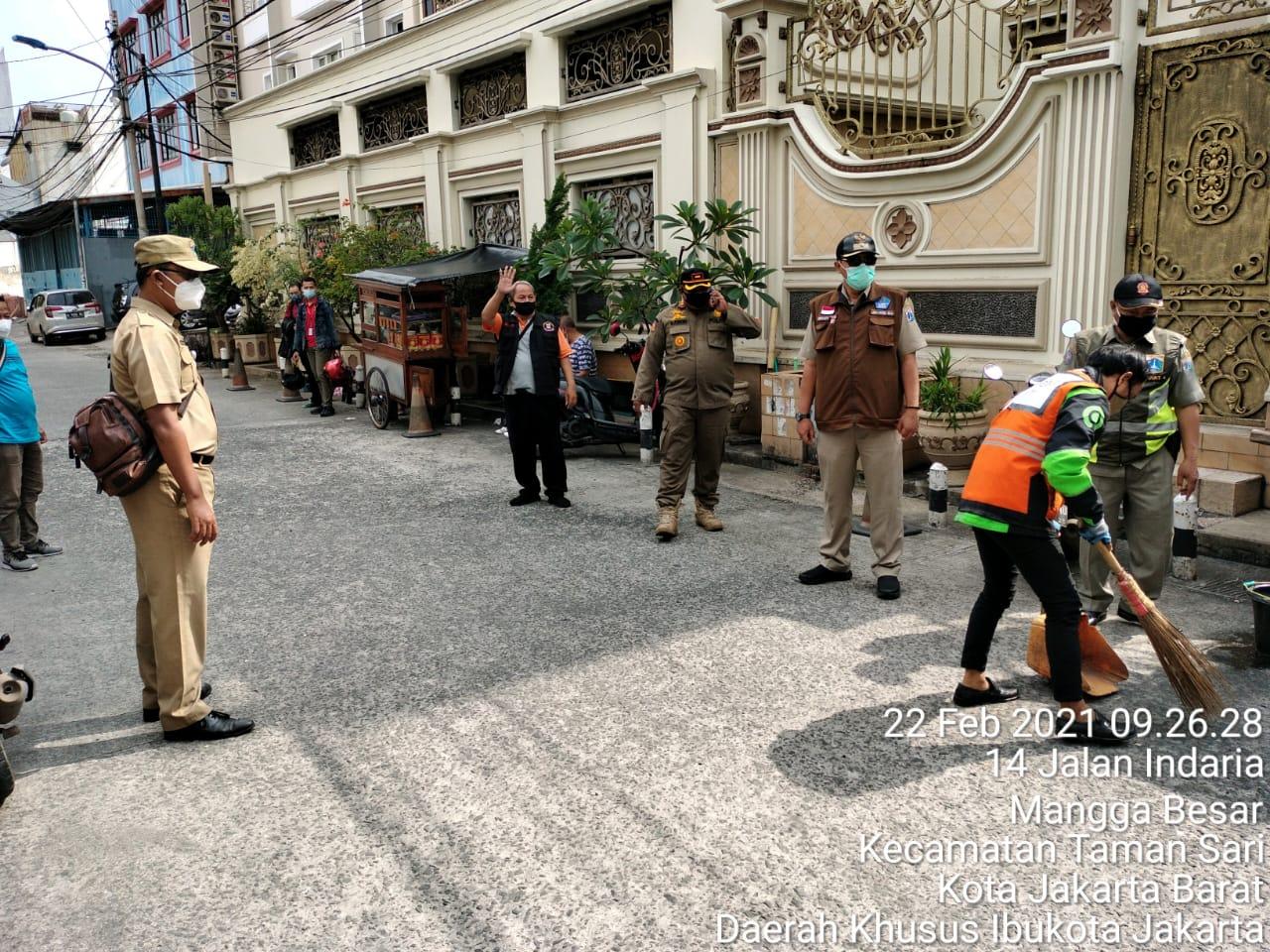 10 Pelanggar Prokes Ditemukan Operasi Masker di Jl Madu Mangga Besar, Tamansari