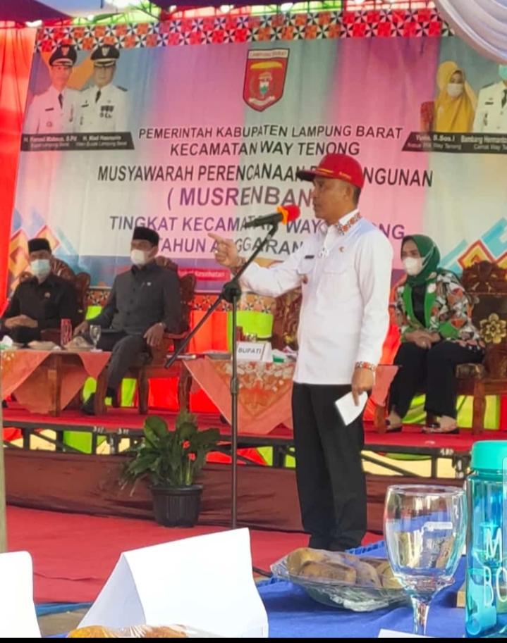 Bupati Lambar Hadiri Musyawarah RKPD
