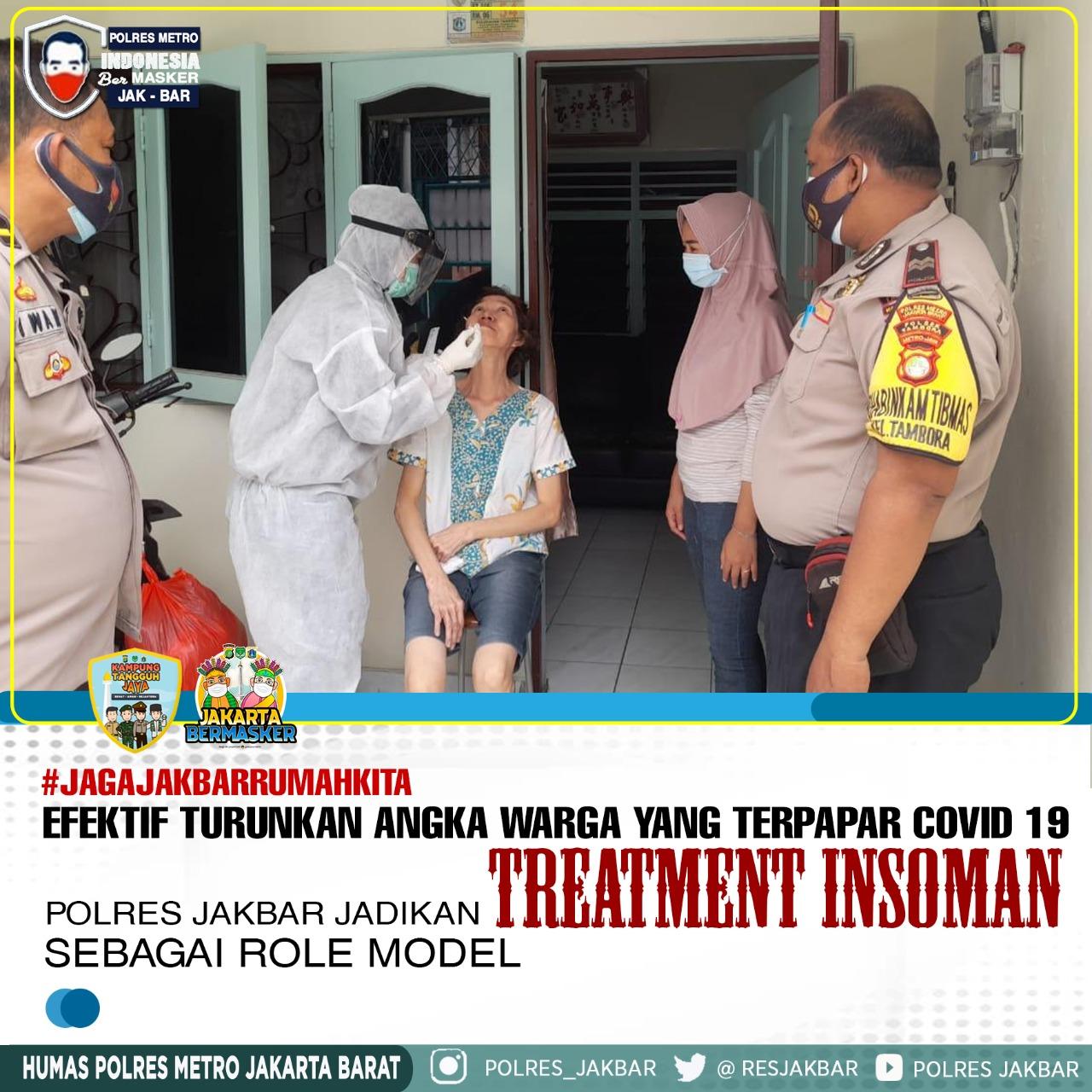 Polrestro Jakbar Jadikan Treatment Isoman Sebagai Role Model