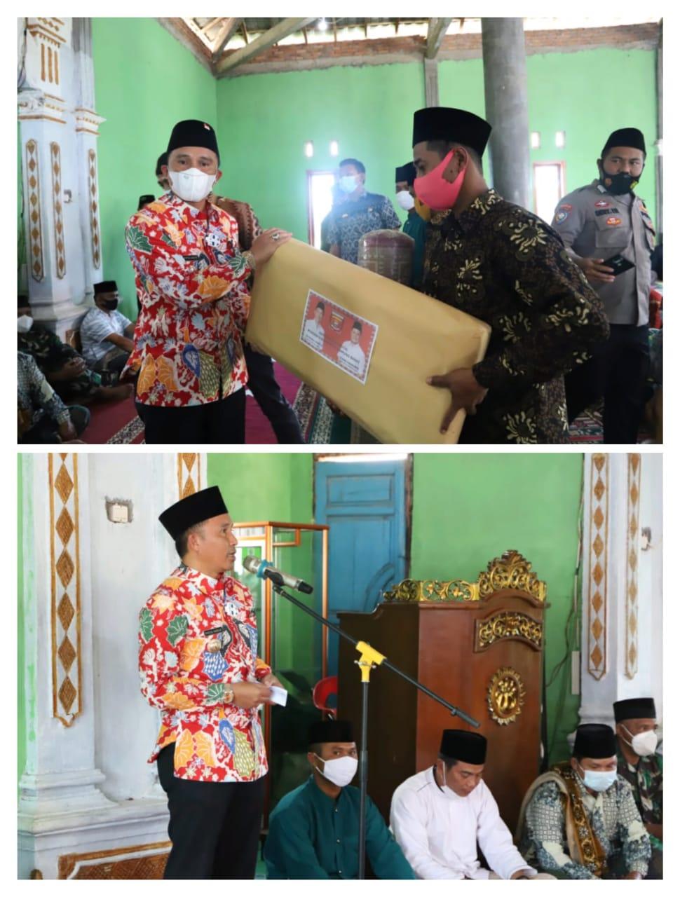 Bupati Lampung Barat Parosil Mabsus Melakukan Kegiatan Rutin Safari Jum'at di Pematang Liu Pekon Padang Cahya