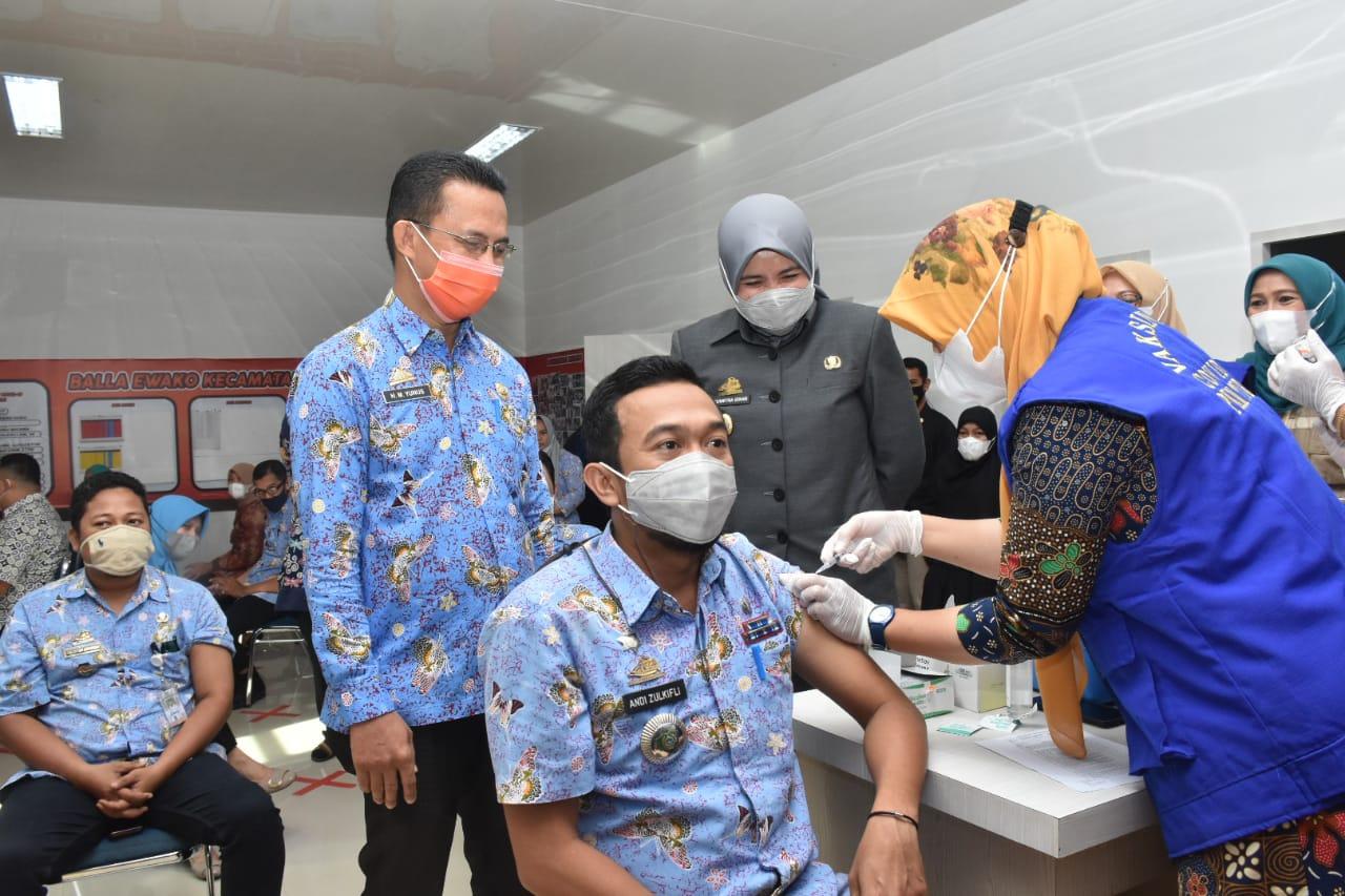 Jadwal Vaksinasi Covid-19 Tahap Dua Beberapa Kecamatan Dipantau Wakil Bupati