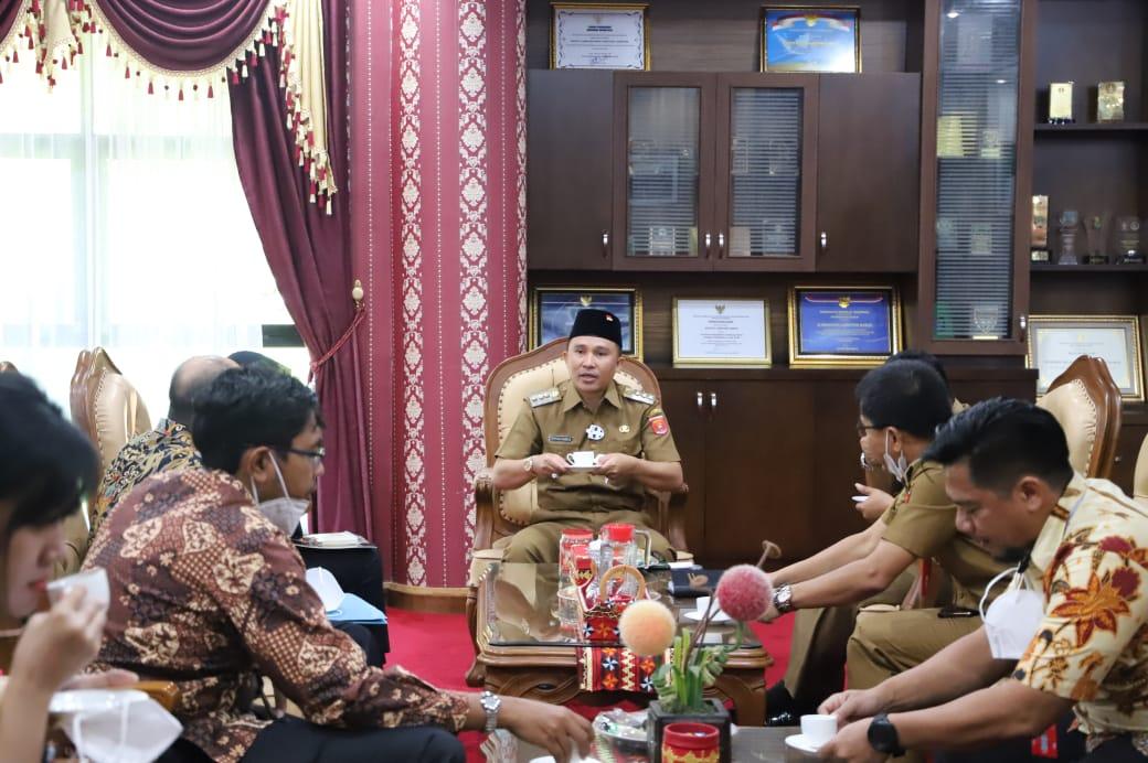 Pemkab Lambar Terima Audensi Tim BPK Provinsi Lampung