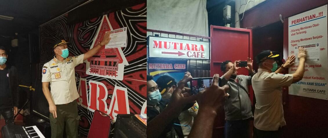 Langgar Prokes Dimasa PPKM, 2 Tempat Karaoke Ditindak Tegas, Disegel