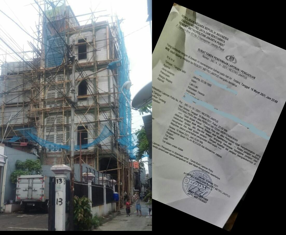 Parah.. !! Pemilik Bangunan Bermasalah Diduga Sewa Preman, Intimidasi Wartawan