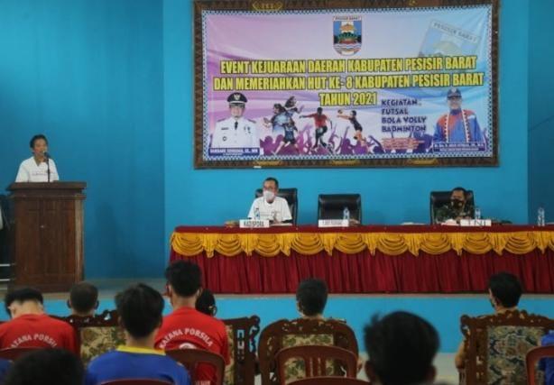 Memeriahkan HUT Pesibar Ke-8, Pj Bupati Membuka Event Kejuaraan Daerah