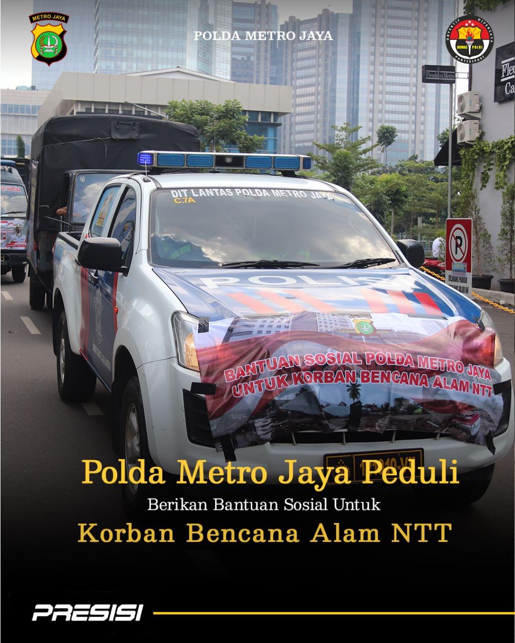 Polda Metro Jaya Peduli, Kirim Bantuan Sosial Untuk Korban Bencana Alam NTT