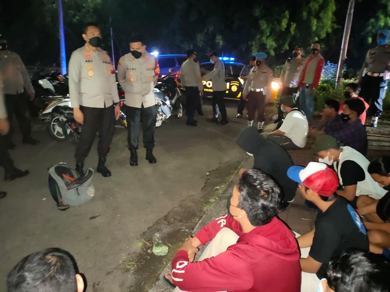 Antisipasi Balap Liar, Puluhan Pemuda dan Kendaraan Bermotor Disita Polisi