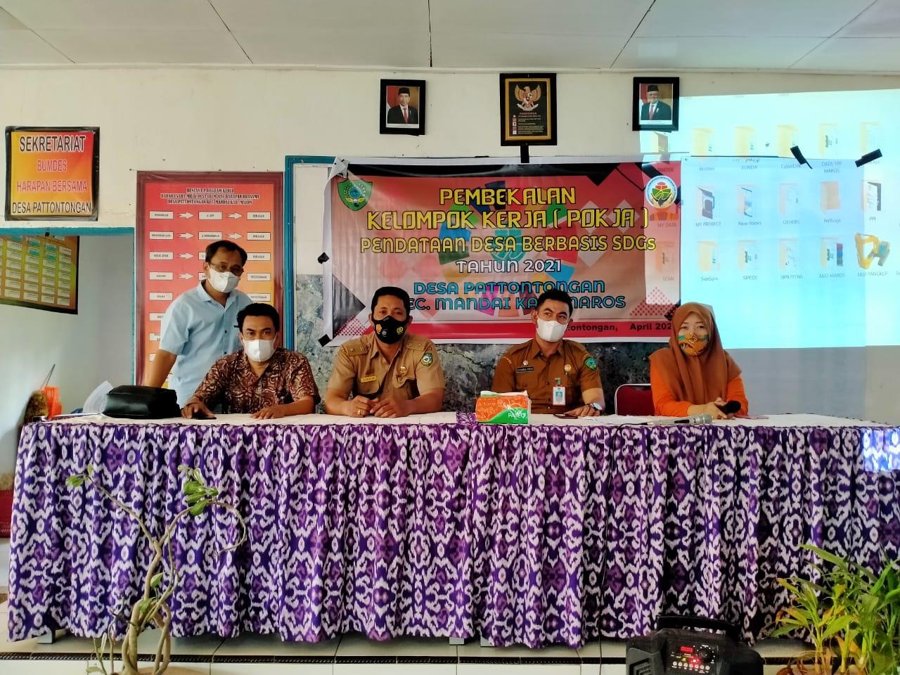 Pemerintah Desa Pattotongan Kecamatan Mandai Lakukan Pembekalan SDGS