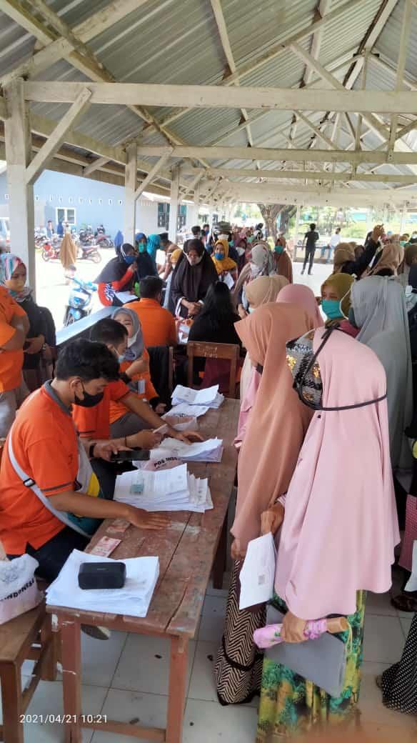 Dinsos Kabupaten Maros Bersama PT Pos Indonesia Salurkan BST di 2 Kecamatan Hari ini