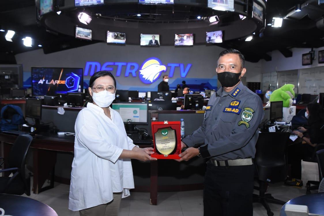 Kapendam Jaya Kunjungi Metro TV, Tingkatkan Kemitraan
