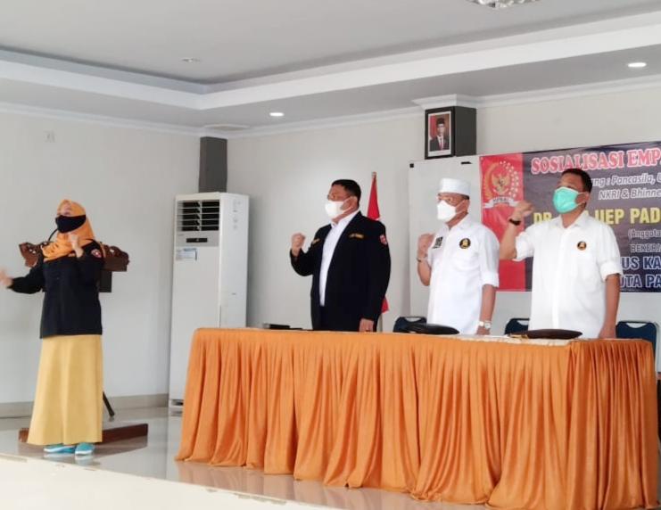 Sosialisasi Empat Pilar MPR RI, DR H Ajiep Padindang Ajak Pemuda Jaga Nilai-Nilai Kebangsaan