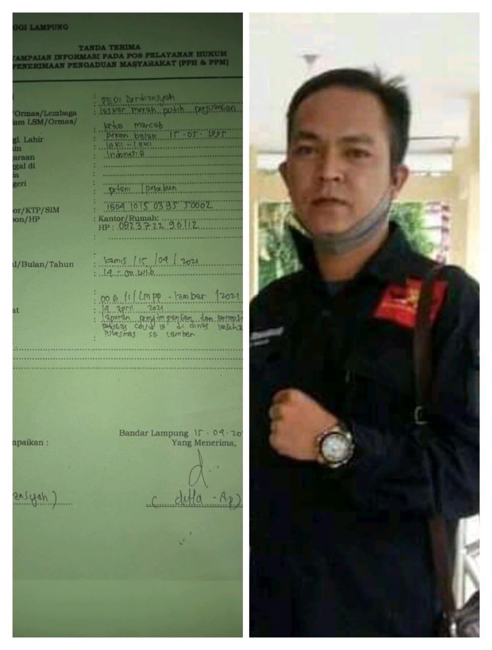 LMPP Lambar Melaporkan Dugaan Pemotongan Insentif Petugas Covid-19 Ke Kejati Lampung
