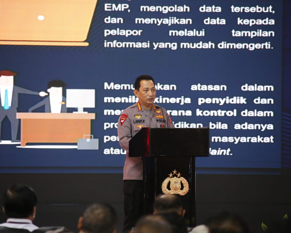 Kapolri Lauching SP2HP Online Berharap Tidak Ada Lagi Sumbatan Komunikasi