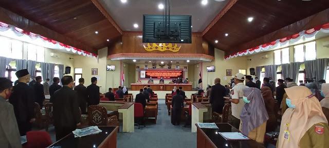 Rapat Paripurna DPRD Lambar Pengesahan LKPJ Bupati Tahun Anggaran 2020