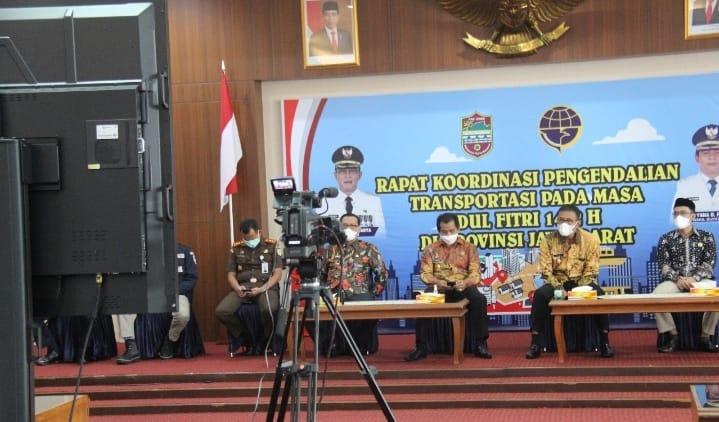 Bupati Ciamis Ikuti Rakor Arahan Pengendalian Transportasi Jabar Jelang Peraiapan Idul Fitri