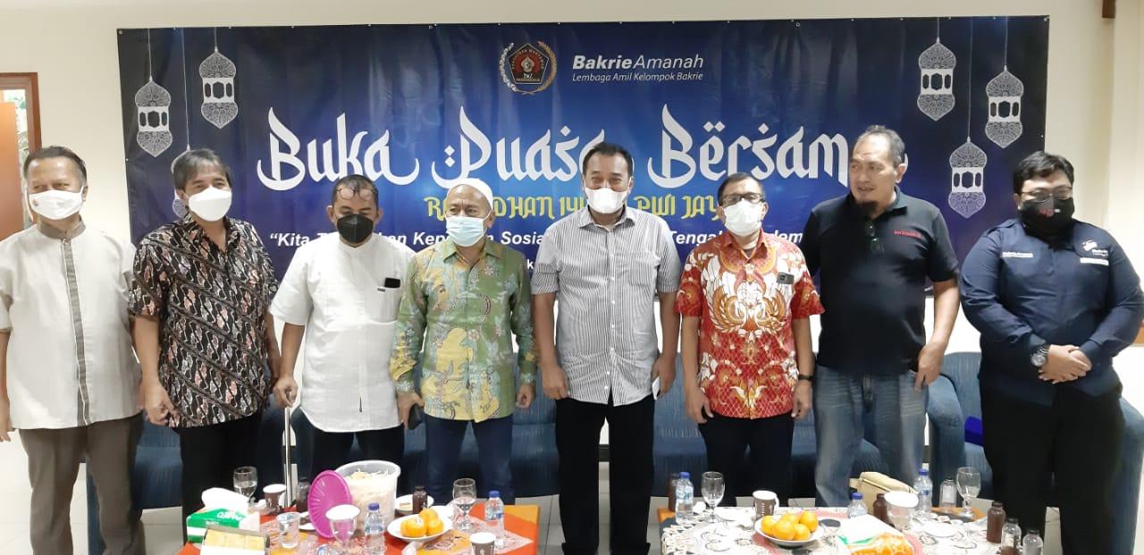 Bukber PWI JayaSekaligus Santunan Bakrie Amanah Mematuhi Prokes