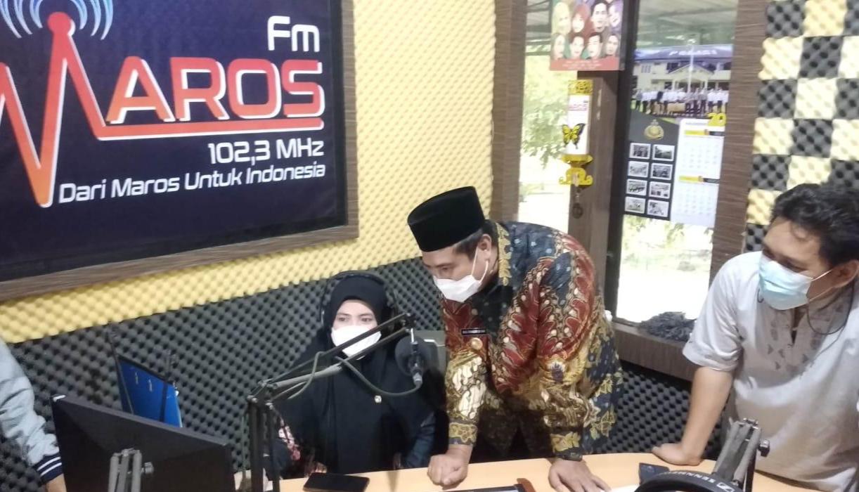 Bupati dan Wakil Bupati Maros Berkunjung Ke Radio Maros FM