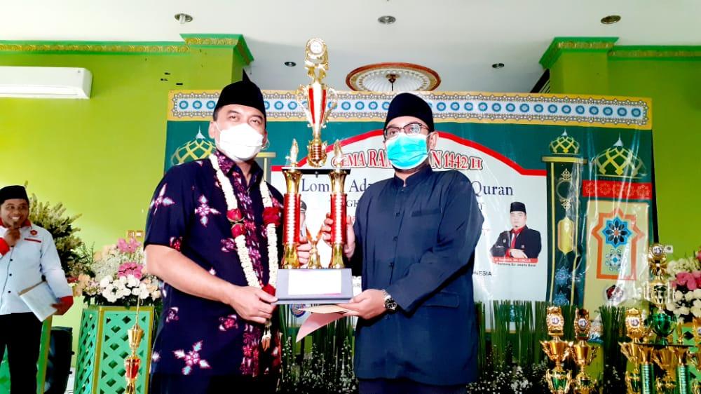 Walikota Jakbar Menutup Acara Lomba Adzan dan Tilawatil Qur'an
