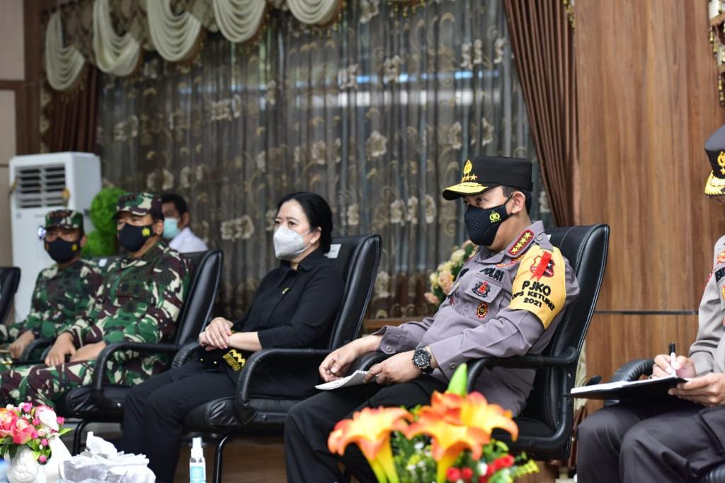Kapolri Bersama Panglima TNI Tinjau Posko Penyekatan Merak-Bakauheni