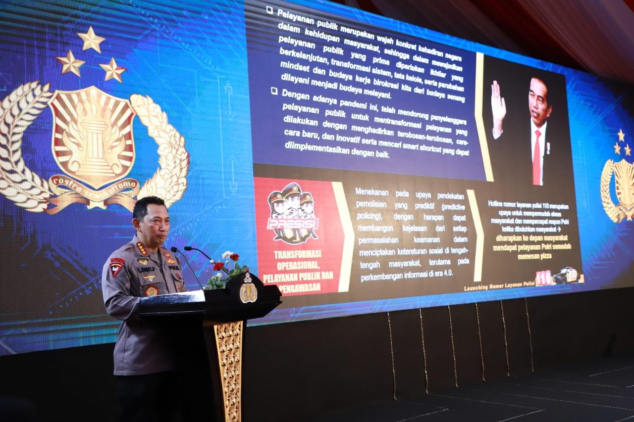 Panglima TNI dan Kapolri Luncurkan Hotline 110, Upaya Respon Cepat Aduan Masyarakat