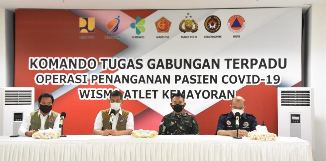 Lonjakan Covid-19, Ketua BNPB, Pangdam Jaya dan IDI Cek Kesiapan RSDC-19