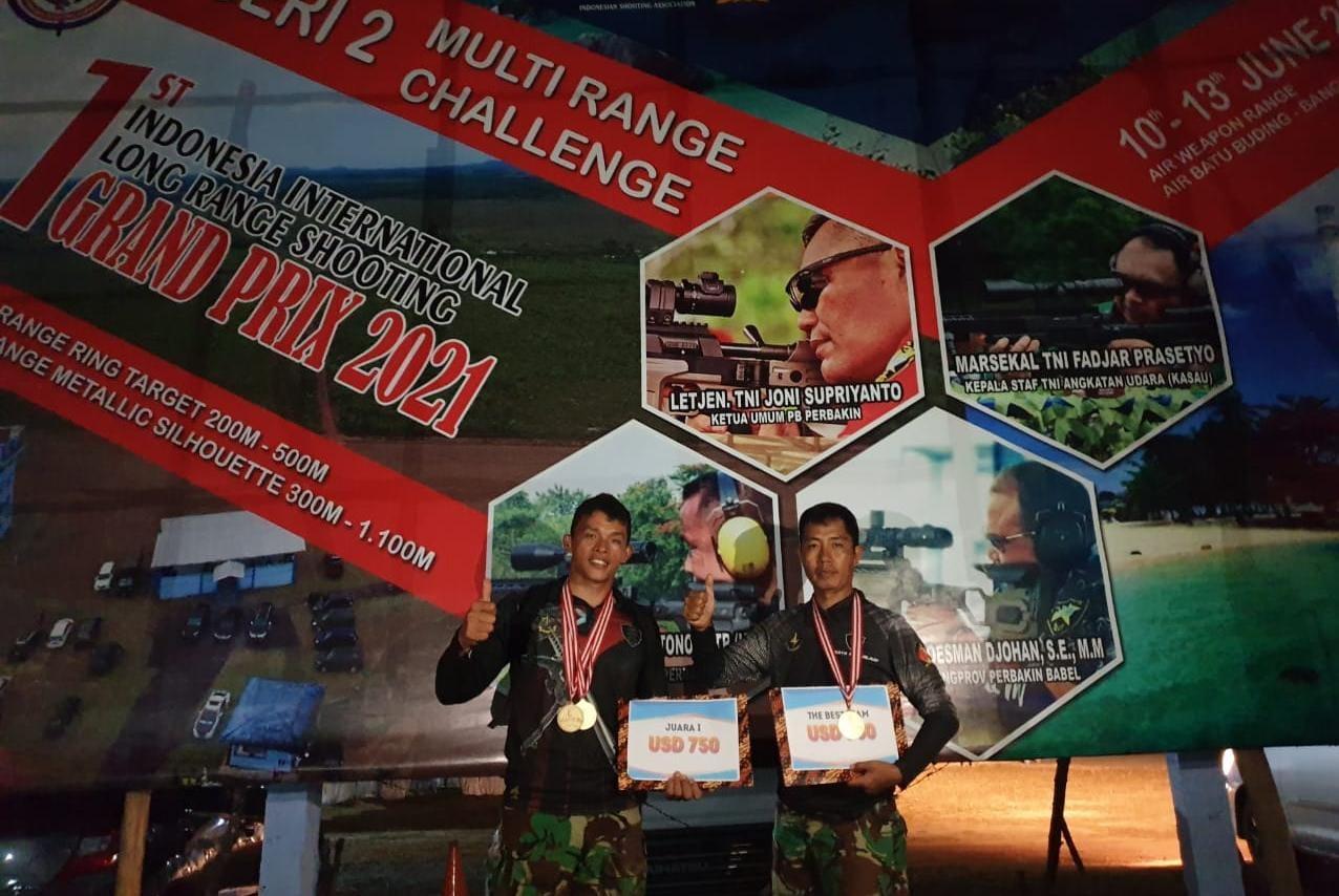 Prajurit Sat-81 Kopassus Juara 1 Individual dan Tim, Tembak 1st Indonesia International Long Range Shooting Grand Prix 2021 serie 2