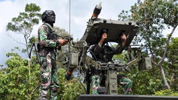 Rudal Mistral Batalyon Arhanud 10/Gagak Hitam Lumpuhkan Pesawat Tanpa Awak