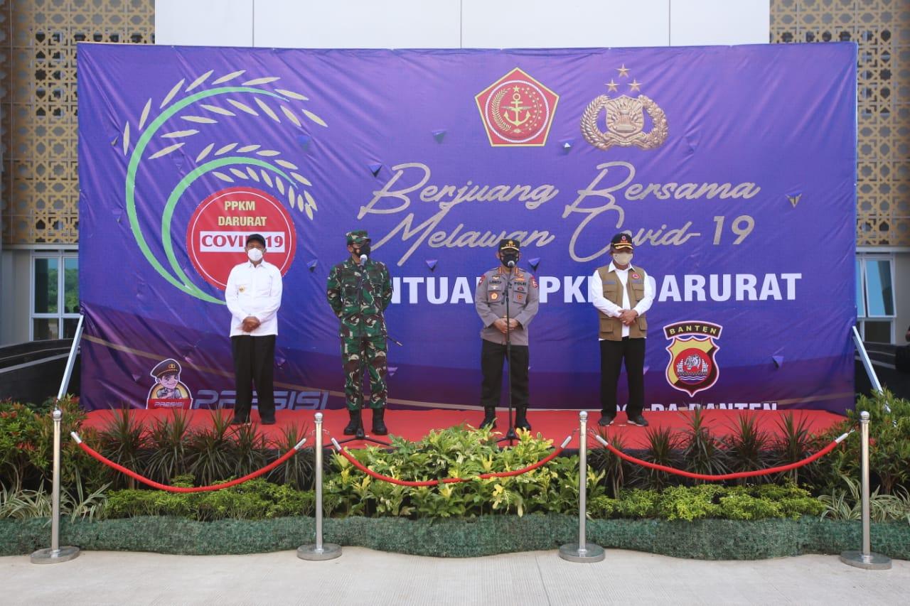 Untuk Masyarakat Banten Terdampak PPKM Darurat, Polri Sebar 458 Ton Beras dan 15.000 Paket Sembako
