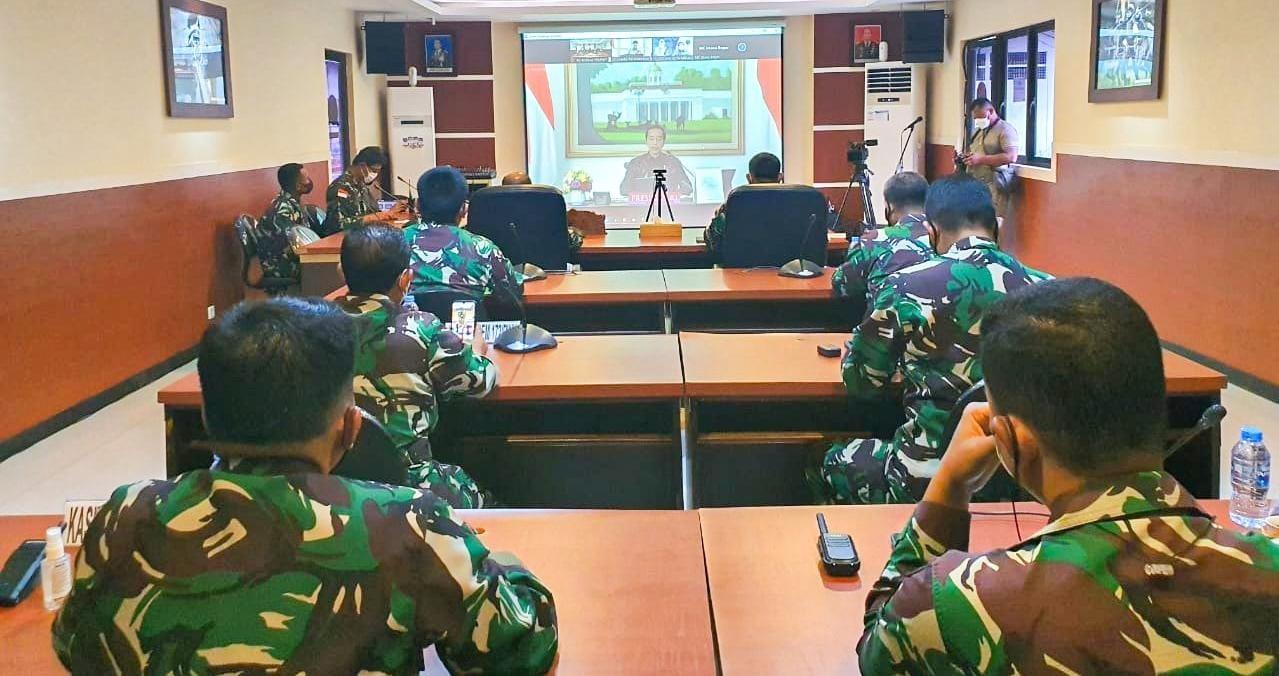 Danrem 172/PWY Terima Arahan Presiden Dalam Rapat Evaluasi PPKM di Luar Jawa-Bali