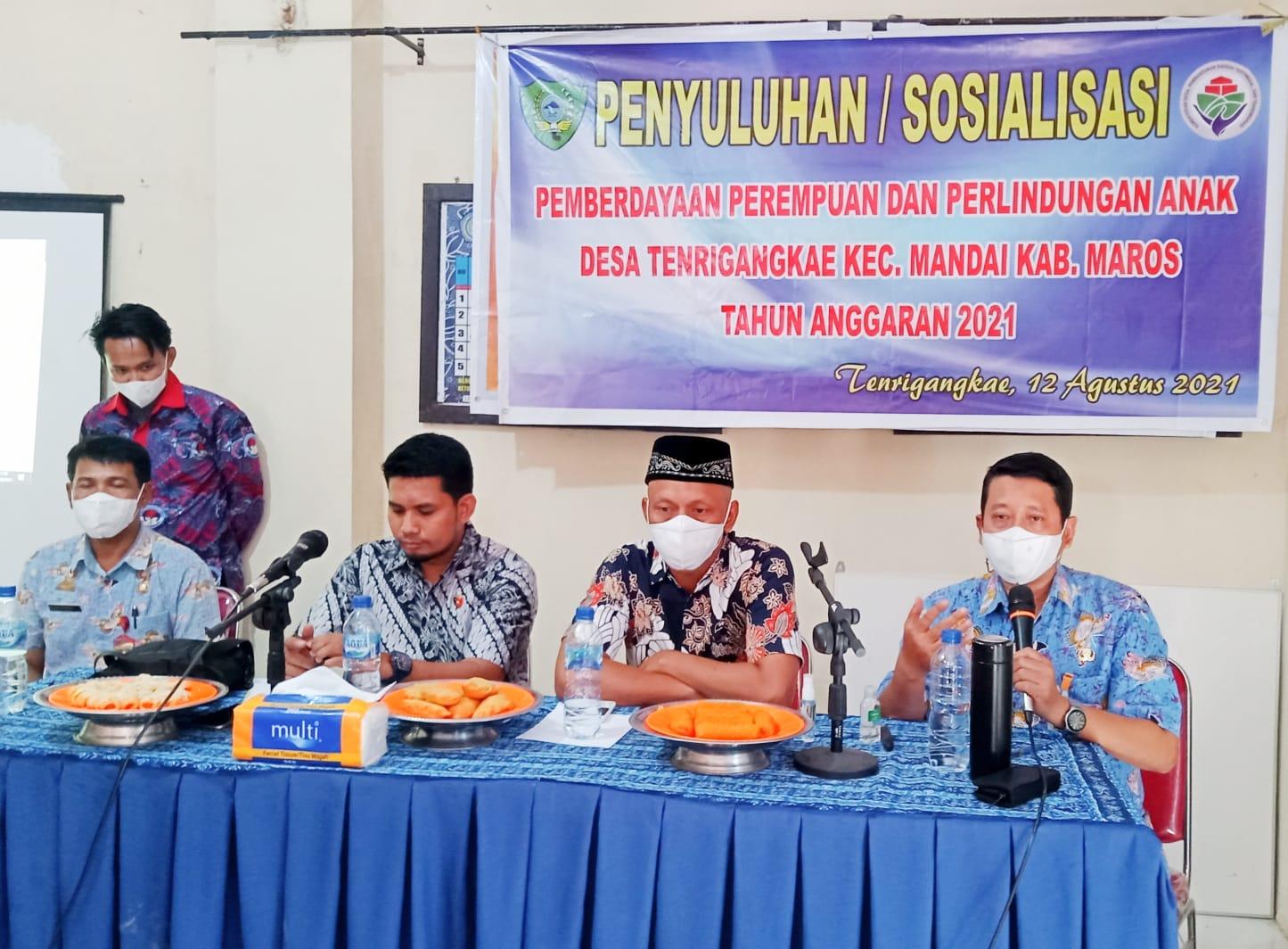 Dinas PPA Kabupaten Maros Penyuluhan Di Desa Tenrigangkae