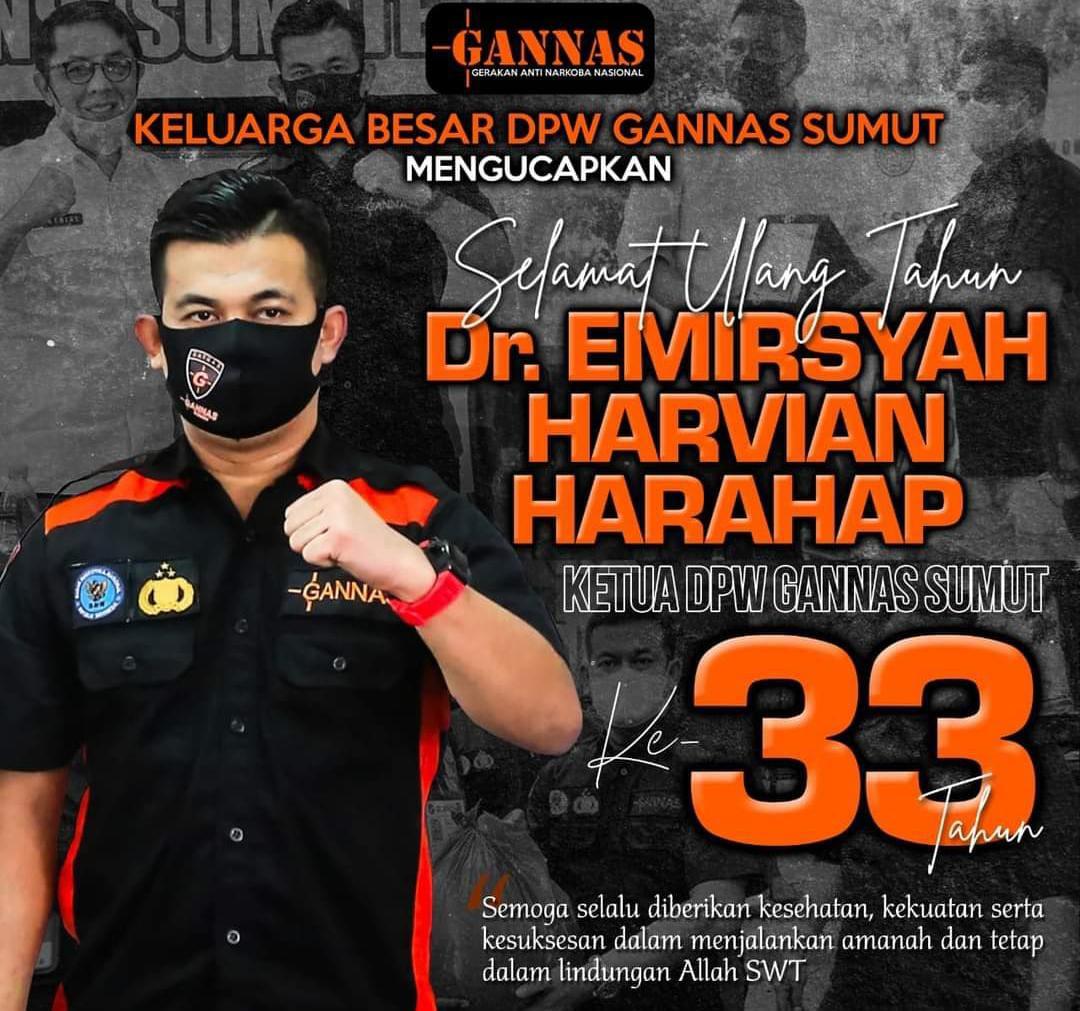 Milad Ketua DPW Gannas Sumut: Berinovasi, Komunikasi Lintas Sektor, TNI Polri BNN dan Forkopimda