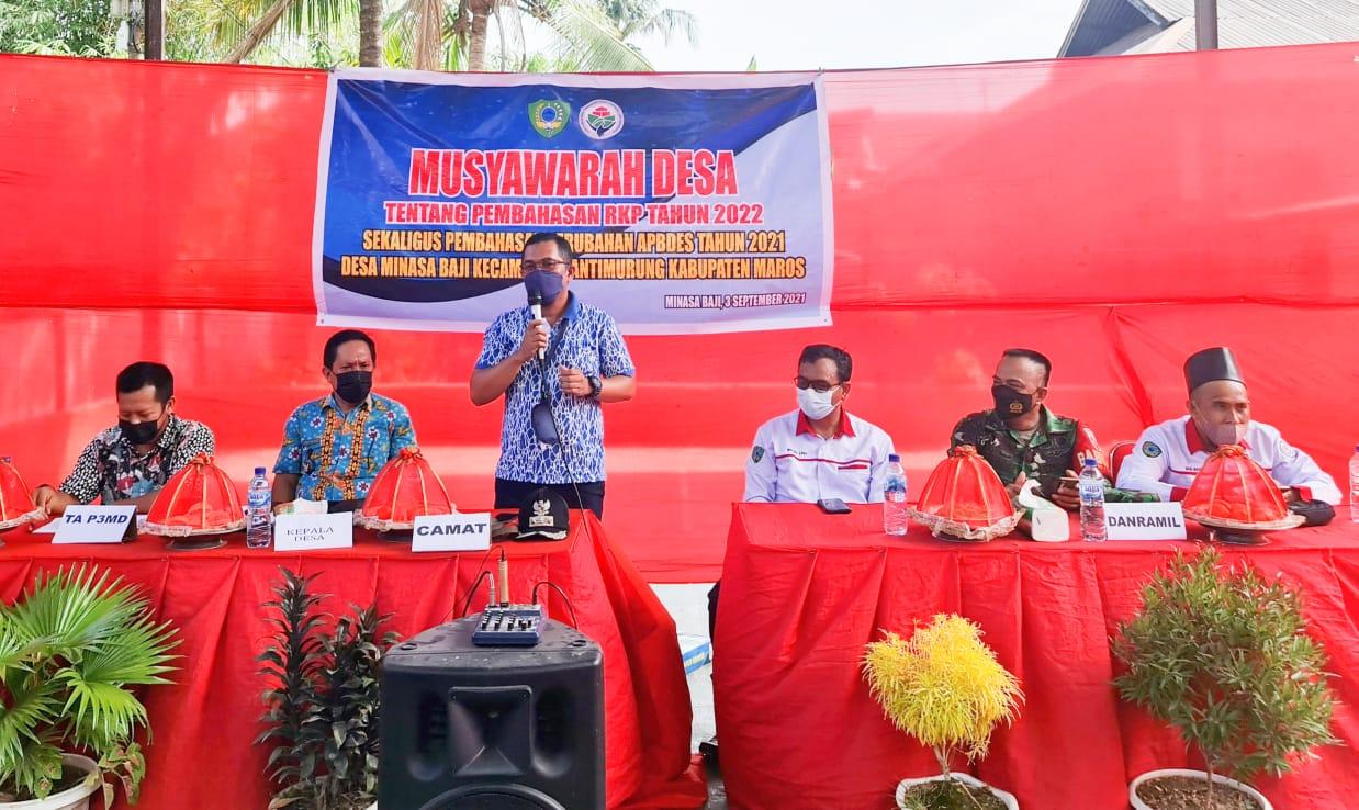Camat Bantimurung Hadiri RKP Desa Minasa Baji Tahun 2022