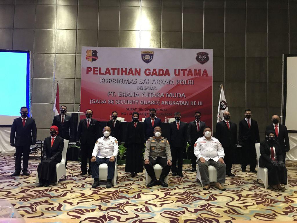 Korbinmas Baharkam Polri Gelar Diklat Satpam Gada Utama PT Graha Yutaka Muda di Bandung