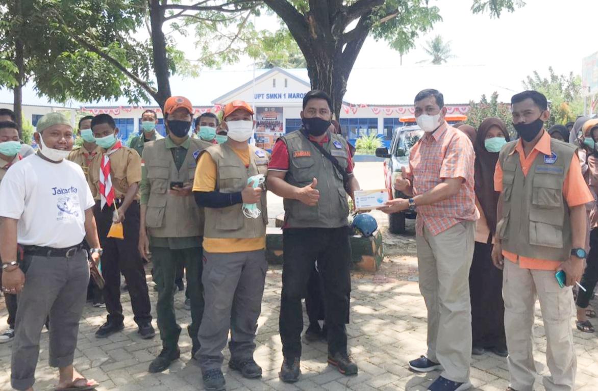 BPBD Kabupaten Maros Bagi Sepuluh Ribu Masker Ke Sejumlah Titik