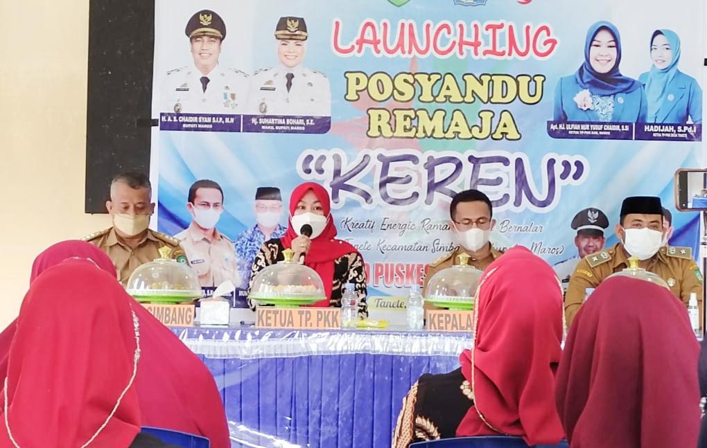 PKK Kabupaten Maros Launching Posyandu Remaja