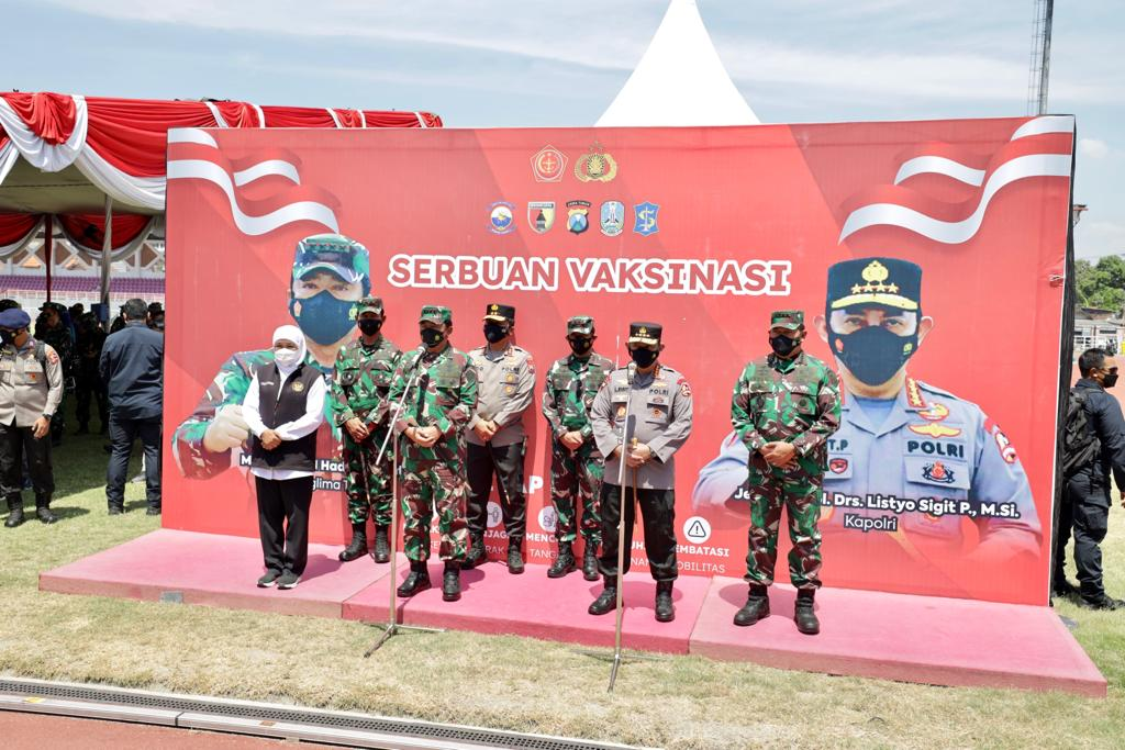 Panglima TNI dan Kapolri Berikan Apresiasi Forkompimda Tangani Covid di Jatim